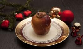 Bratapfel mit Vanille-Creme