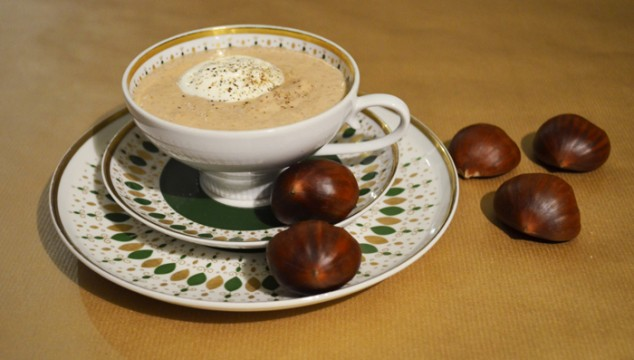 Chestnut-Truffle-Cream Soup