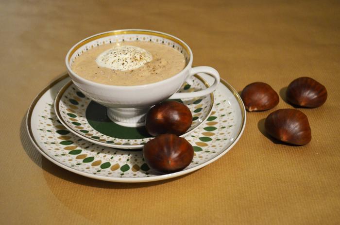Chestnut-Truffle-Cream Soup