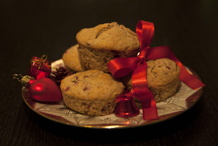 Cranberry-Walnut Muffins