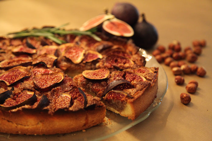 tart fresh fig tart with orange flower custard fresh fig and hazelnut ...