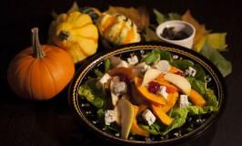 Pumpkin-Pear Salad with Gorgonzola Cheese