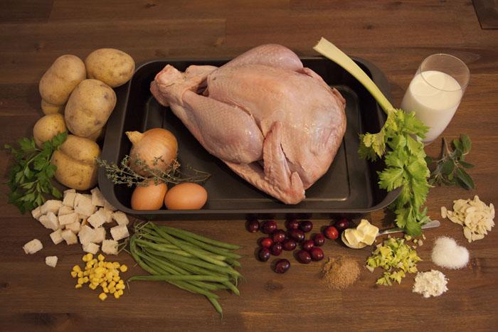 turkey-potatoes-beans-cranberrys