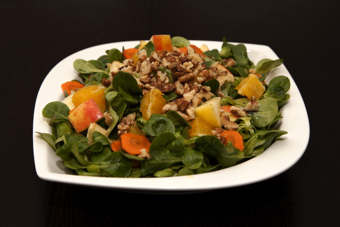 Carrot Apple Salad with Oranges and Walnuts