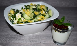 Cucumber-Mango-Sheep's Cheese Salad