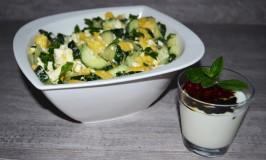 Cucumber-Mango-Sheep's Cheese Salad