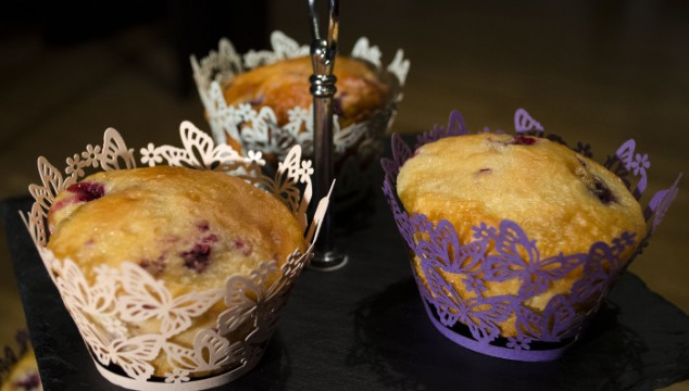 Raspberry-Yogurt Muffins