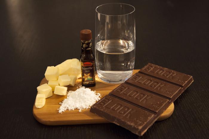 chocolate-vanilla-butter-confectioners-sugar