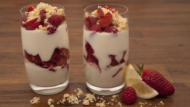 Lemon-Cream Yogurt with Berries