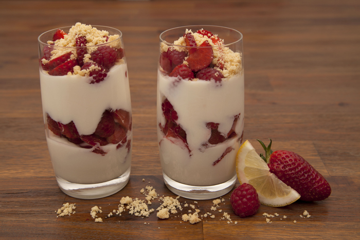 Lemon-Cream Yogurt with Berries