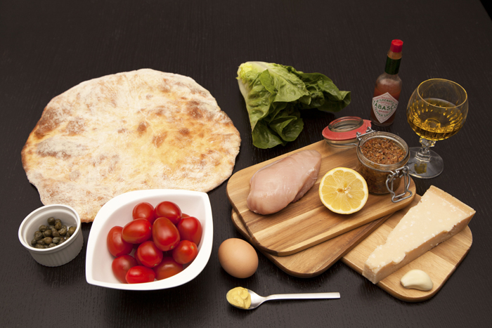 ingredients-caesar-salad-pizza