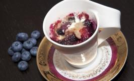 Blueberry Streusel Mug Cake